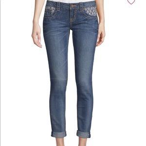 NWT! Miss Me Deco Accent Ankle Jeans